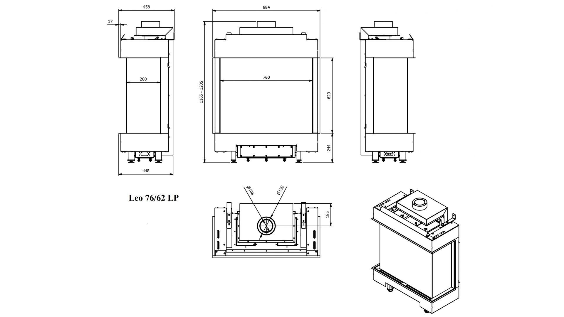 Wkład kominkowy Leo 76-62 LP - folder