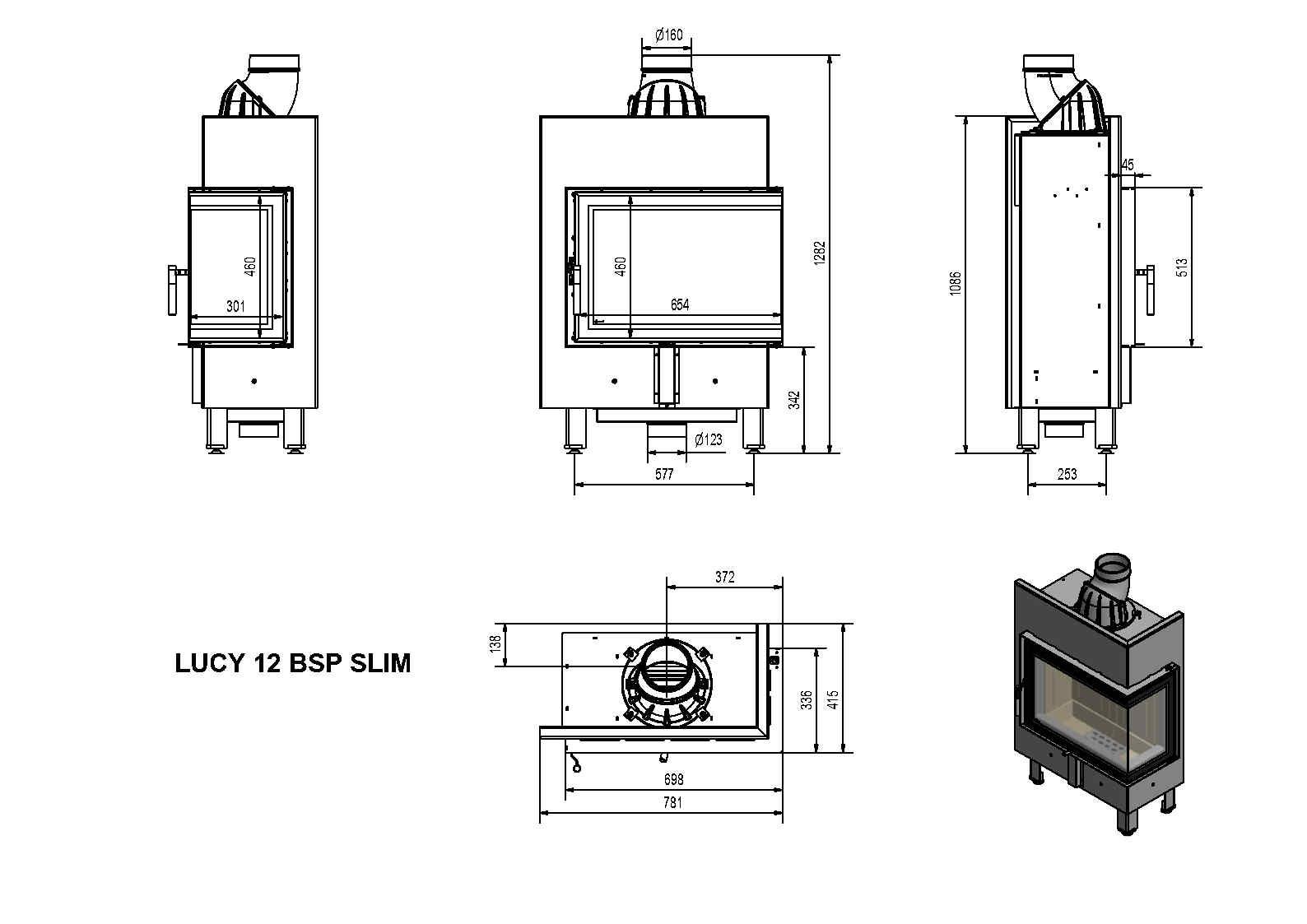 LUCY12BSP SLIM - rys. techniczny