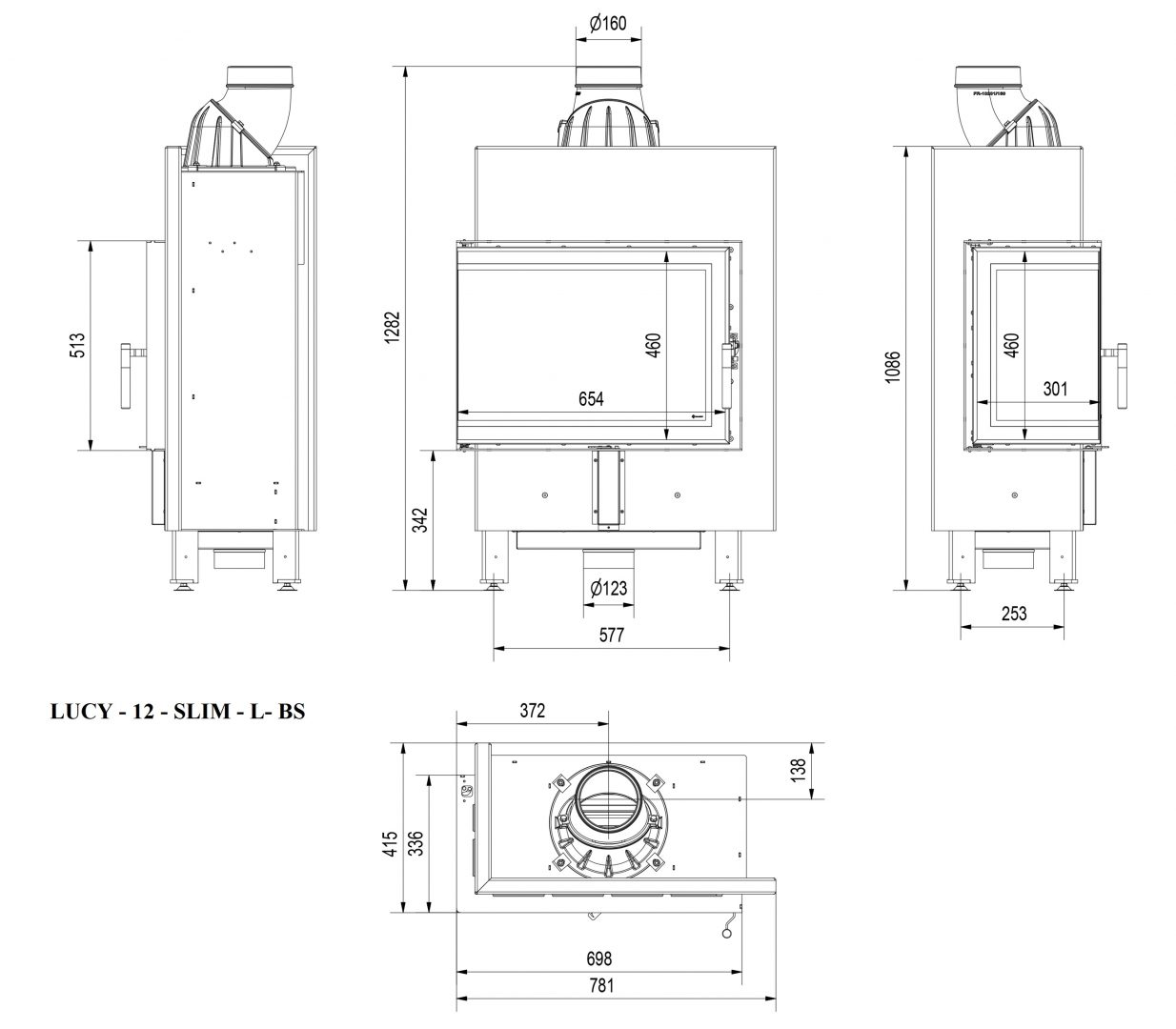 lucy-12-l-bs_Wkład kominkowy